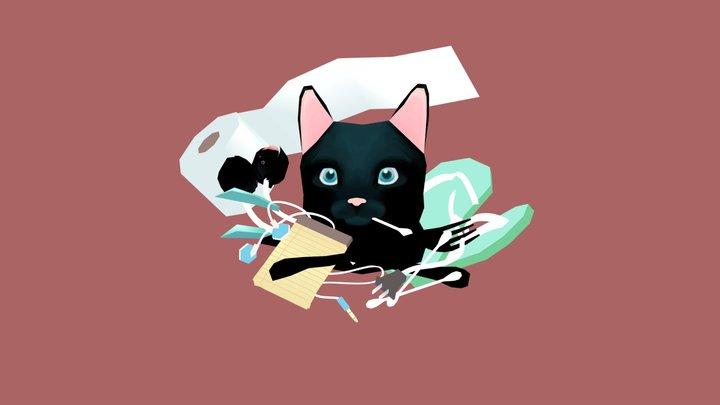 Undiscerning cat 3D Model