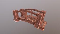 Cartoon Wooden Bridge 3D Model