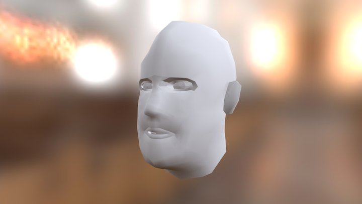 Human head (untextured) 3D Model