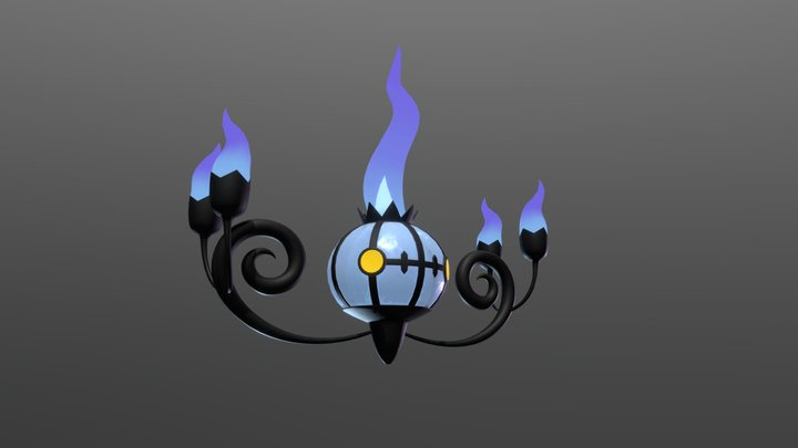 Chandelure - Pokémon 3D Model