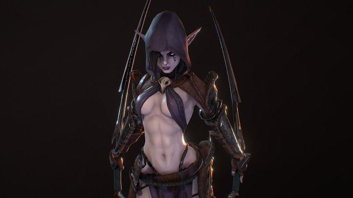 Dark Elf Assassin 3D Model