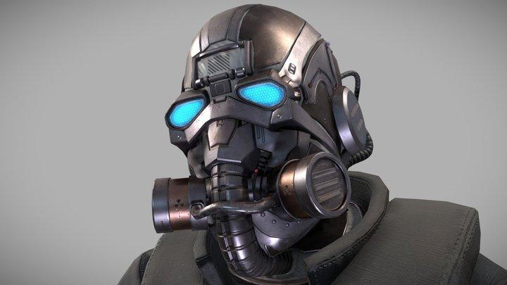 Special forces skifi soldier - skin 2 3D Model