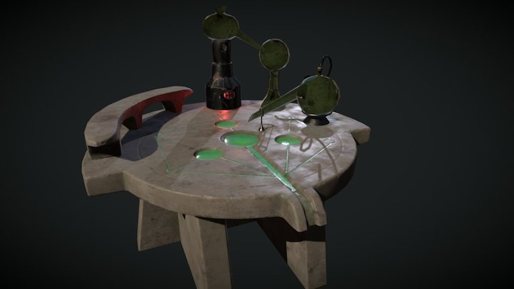 Skyrim Alchemy Table 3D Model