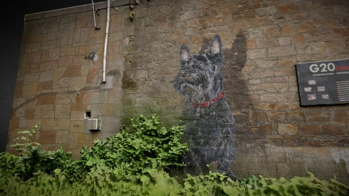 Wall Mural Maryhill Road Glasgow 3D Model