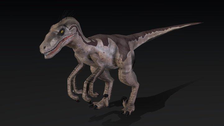 Velociraptor [VERY LOW POLY] 3D Model