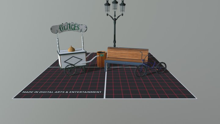 Annecy - 5 Low Poly Props 3D Model