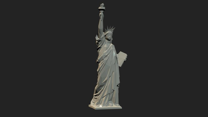 Statue of Liberty, low-poly version. 3D Model