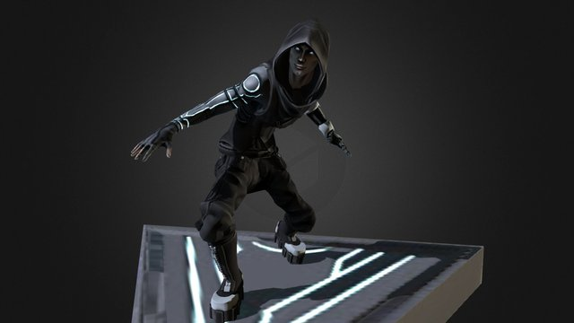 Shadowrun Assassin 3D Model