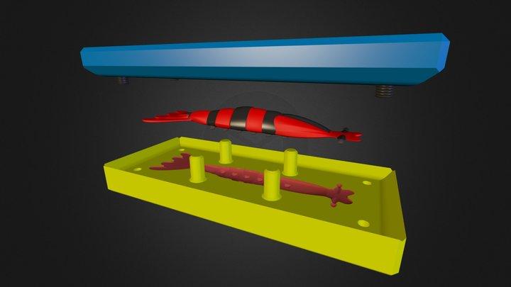 Camarão - Molde Aberto v2 3D Model