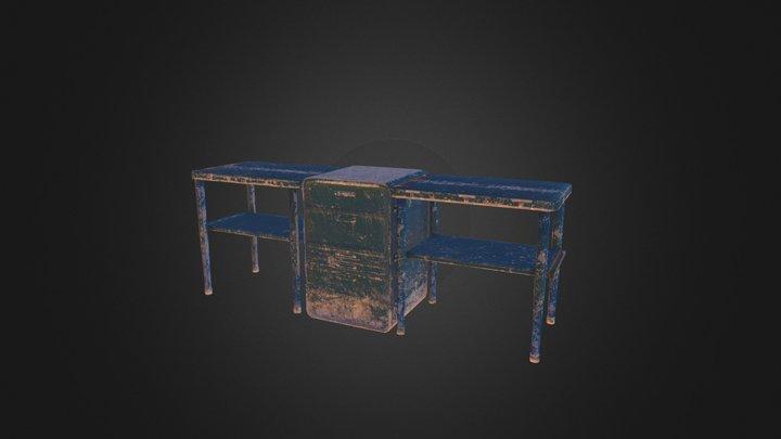 Desert Military Kit: Modular Command Table 3D Model
