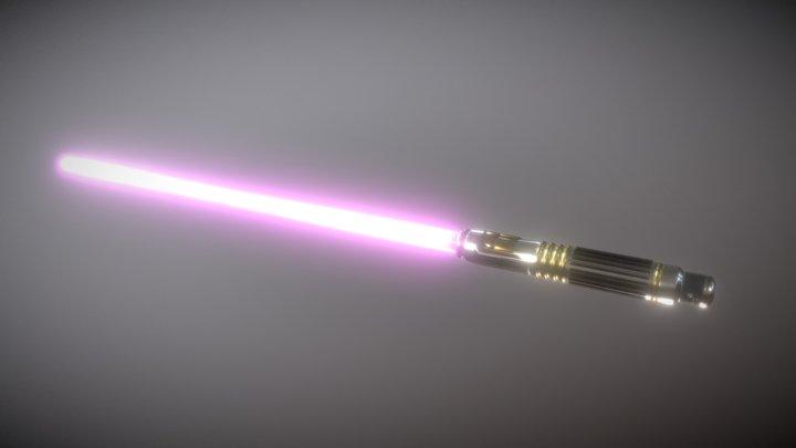 Mace Windu's Lightsaber 3D Model