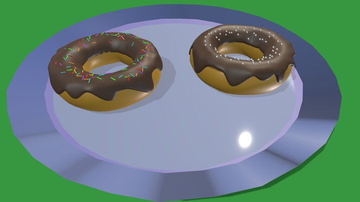 Chocolate Donuts! 3D Model