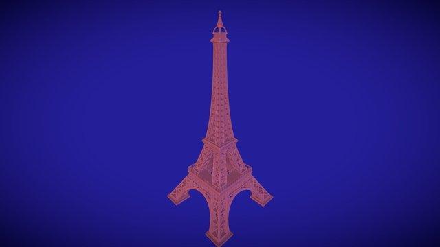 Eiffel Tower, Paris, printable monument 3D Model