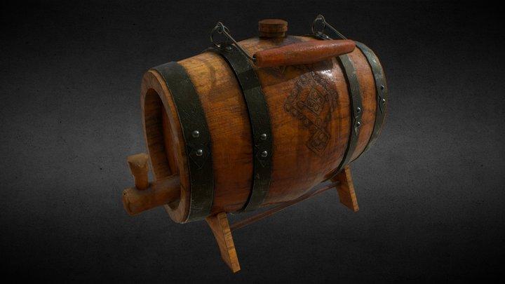 Old hand-held Barrel 3D Model