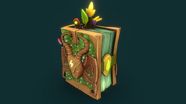 Forest Book - Polycount May/June Prop Challenge 3D Model