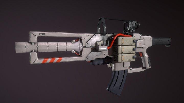 """Gun """"FS-9 CRANIUM"""" 3D Model"""