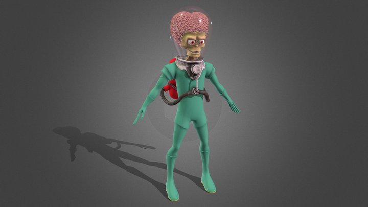 Ack! Ack!  Alien from Mars Attacks! 3D Model