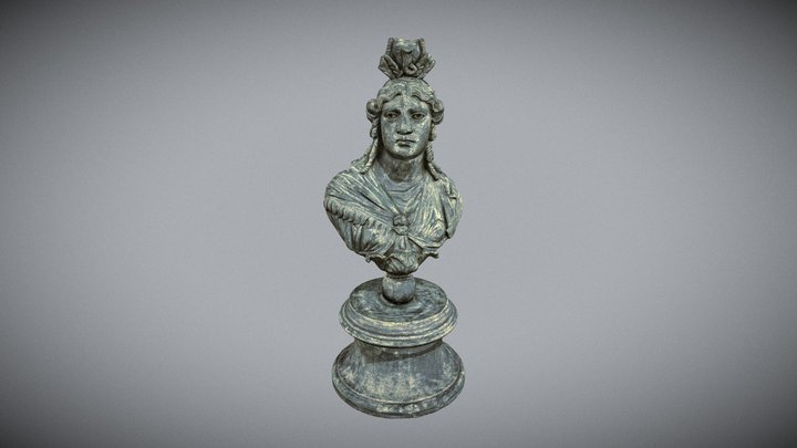 Roman Bust of Isis 3D Model