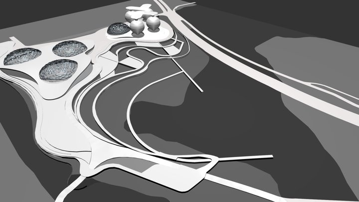 SAN MATEO - A PROPOSAL FOR SEA-LEVEL RISE 3D Model