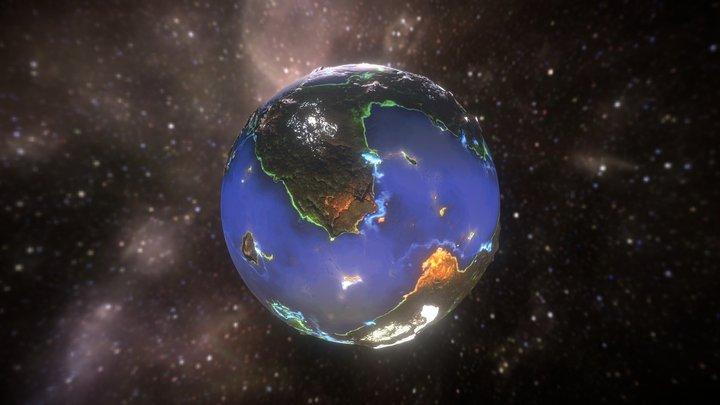 Omega Planet 3D Model