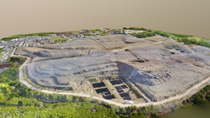 Sarbagita Landfill Area 3D Model