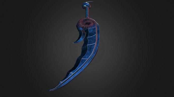 Obsidian Dagger 3D Model