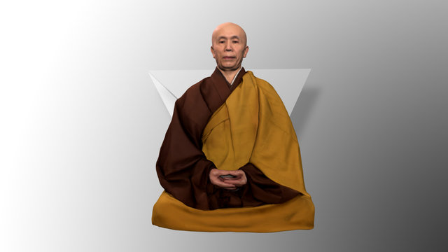 3D Scan of a Buddhist Priest 3D Model