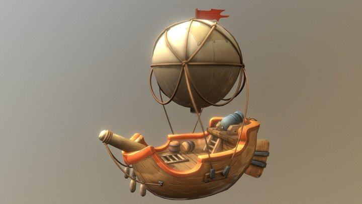 Balloon Boat 3D Model