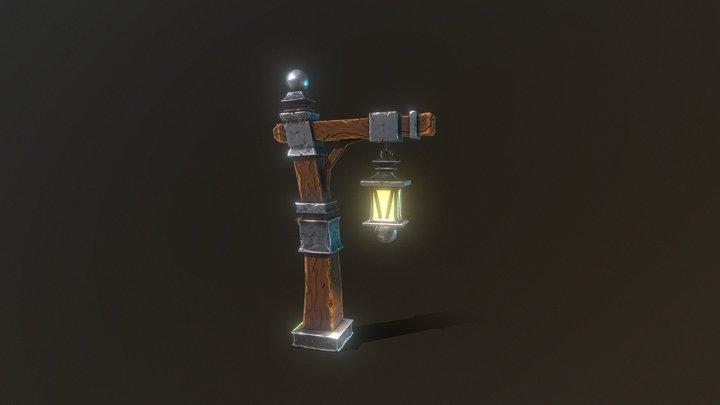 Stylized Lamp Post 3D Model