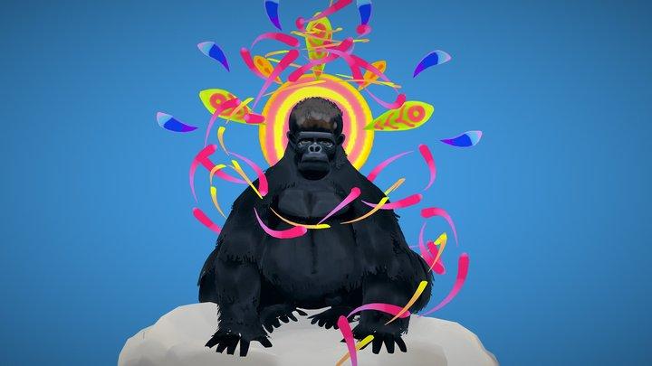 Cloud Gorilla 3D Model