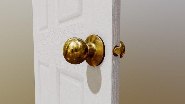 Interior Wooden Door 3D Model
