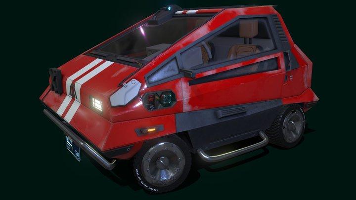 Cyberpunk 2077 fanart: Makigai MaiMai P126 3D Model