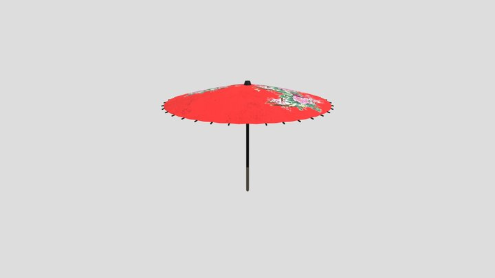 Japanese Umbrella 3D Model