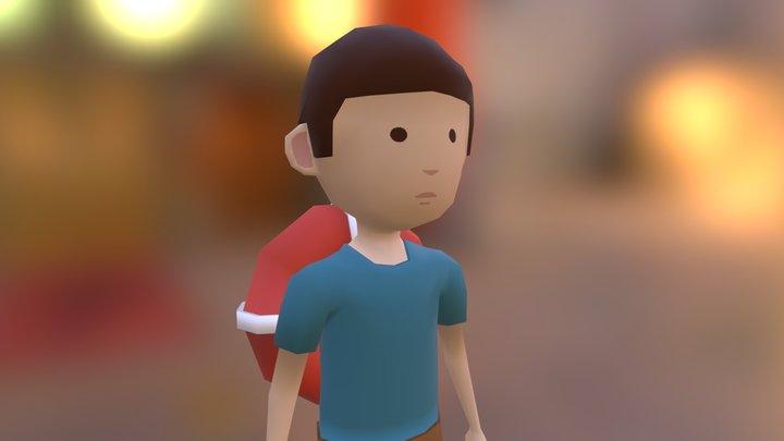 Low Poly Boy 3D Model