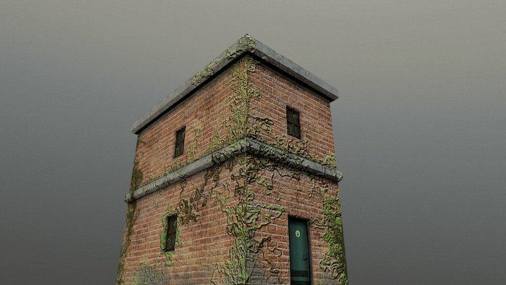 Lowpoly Building1 3D Model