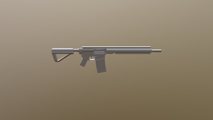 Basic rifle 3D Model