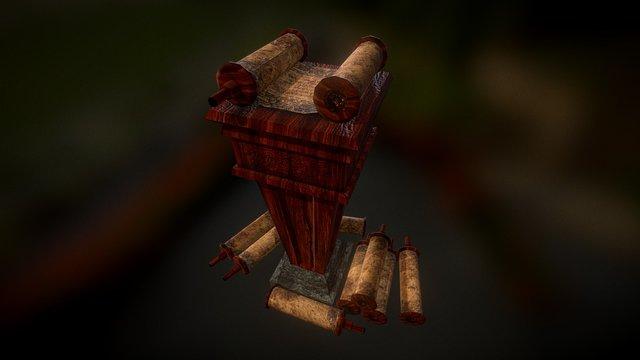 Podium of Scrolls 3D Model