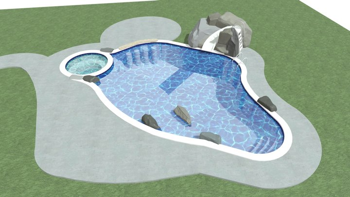 E-3 Lewis Pool & Spa Project 3D Model
