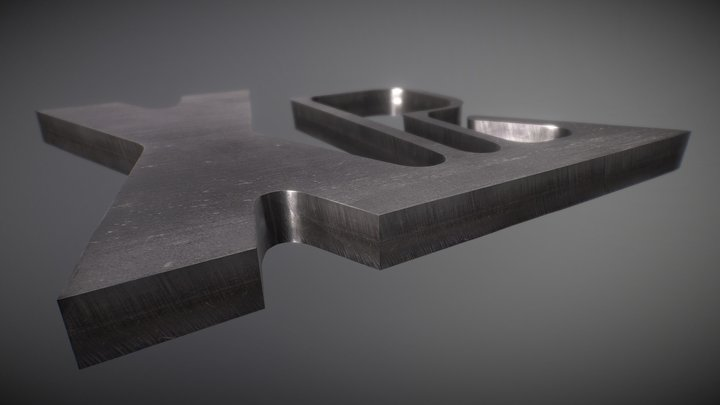 Stainless steel cut sample 3D Model
