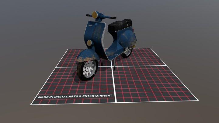 Vespa muddy_Version 3D Model