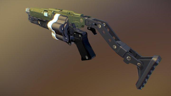 Doom Grenade Launcher 3D Model