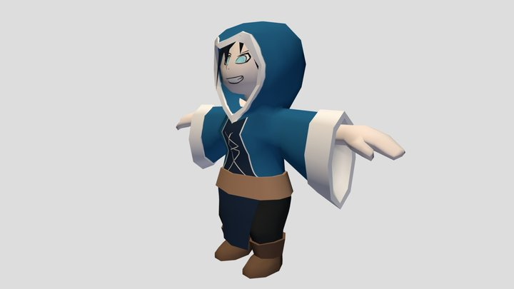 Witch Hooded 3D Model