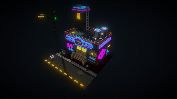 Cyberpunk Voxel Studio 3D Model