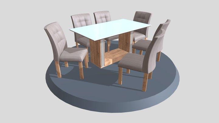 Mesa Napoles 6C 900x1600 3D Model