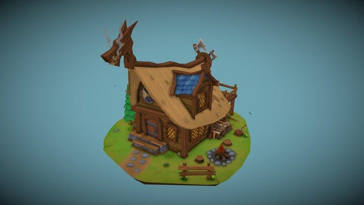 Bjørn's Lumberjack Hut | DAE Villages 3D Model
