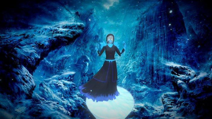 Winter Lady 3D Model