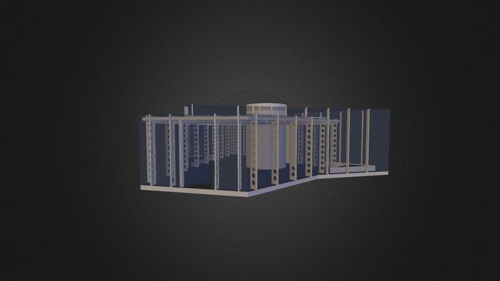 Paviljoen Stilte Def 3D Model