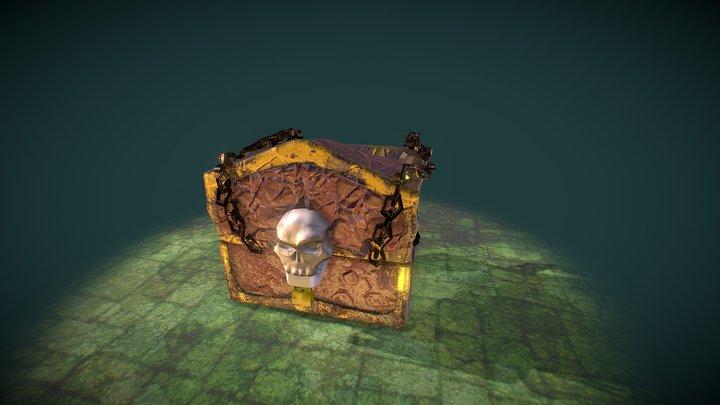 Opening Skull Chest 3D Model
