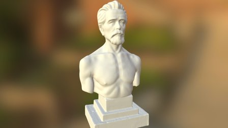 Open air statue 3D Model