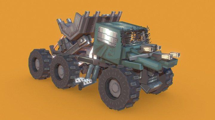 The Waste desert truck 3D Model